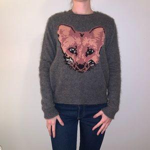 Talula Wool/Angora Blend Grey Fox Sweater